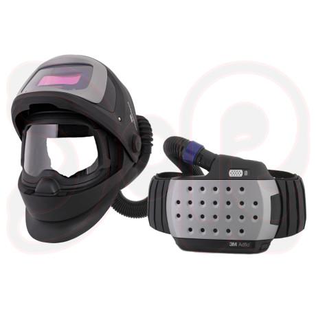 SPEEDGLAS 9100 FX Air Schweißmaske mit 3M Adflo Gebläseatemschutz mit 9100V Automatikschweißfilter